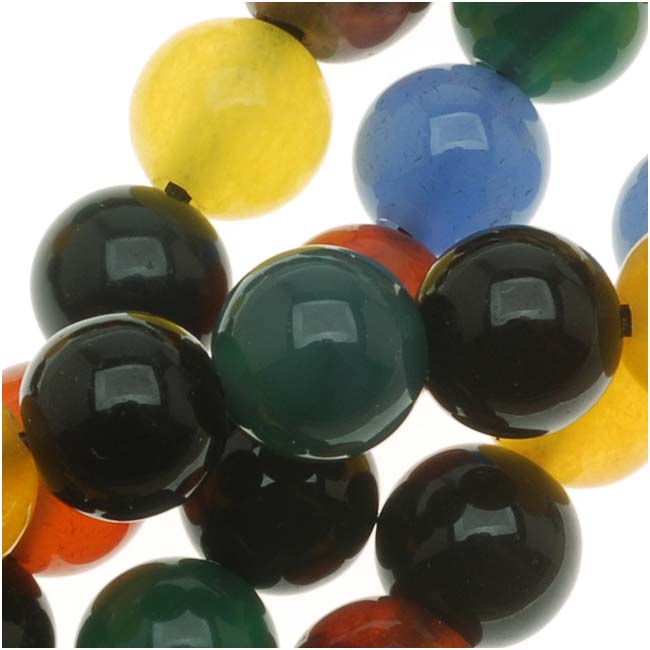 Agate Color Mix - 6mm Round Beads /14.5 Inch Strand