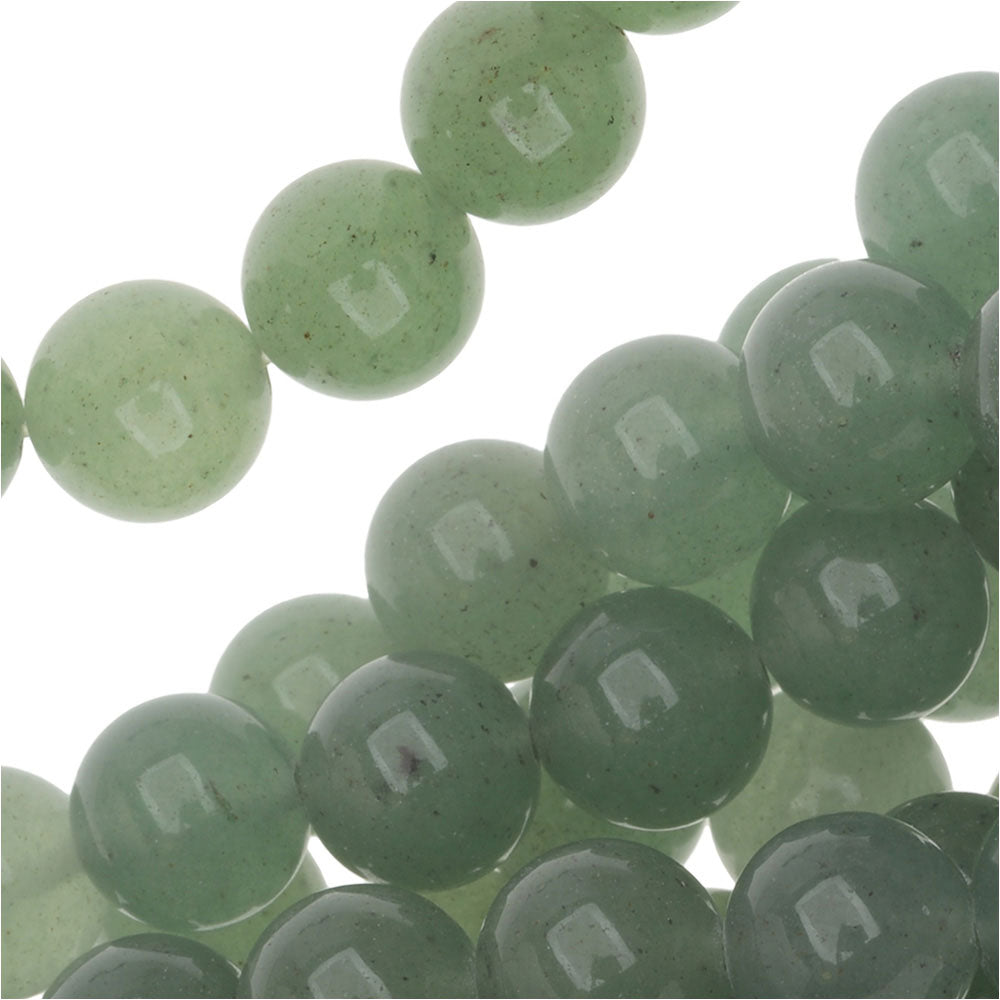 Green Aventurine 8mm Round Beads / 15.5 Inch  Strand