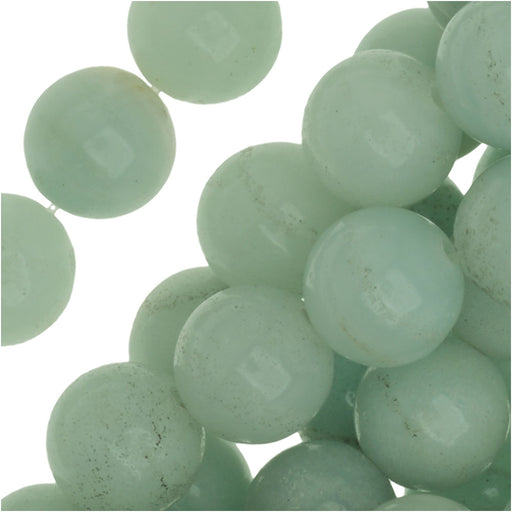 Pale Aqua Green Amazonite 8mm Round Beads /15.5 Inch