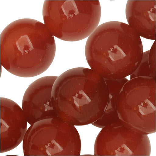 Dakota Stones Gemstone Beads, Red Carnelian, Round 10mm, 8 Inch Strand