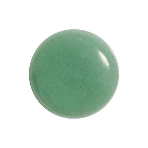 Green Aventurine Gemstone Round Flat-Back Cabochons 25mm (1 Piece)