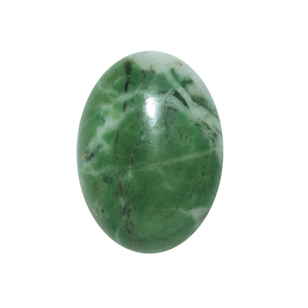 Zing Jiang Jade Gemstone Oval Flat-Back Cabochon 25x18mm (1 Piece)