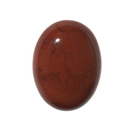 Red Jasper Gemstone Oval Flat-Back Cabochon 25x18mm (1 Piece)