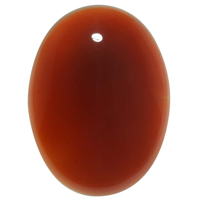Carnelian Gemstone Oval Flat-Back Cabochon 40x30mm (1 Piece)