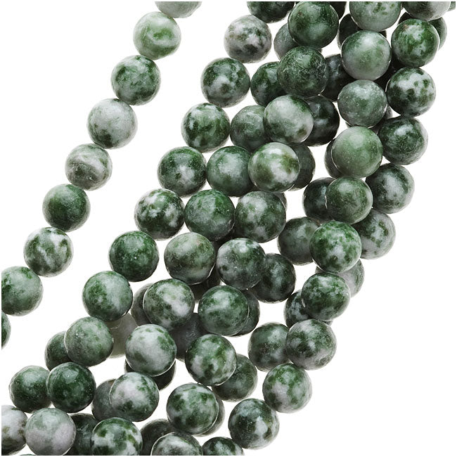 Gemstone Beads, Green China Jade, Round 6mm, 15.5 Inch Strand