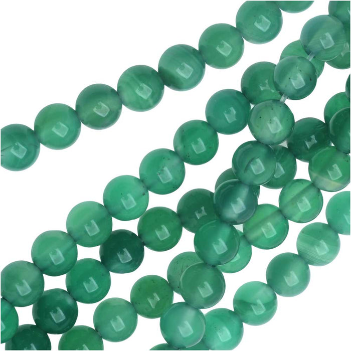 Gemstone Beads, Green Candy Jade, Round 6mm, 15 Inch Strand