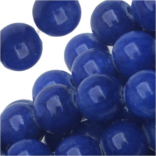 Gemstone Beads, Blue Candy Jade, Round 8mm, 15.75 Inch Strand