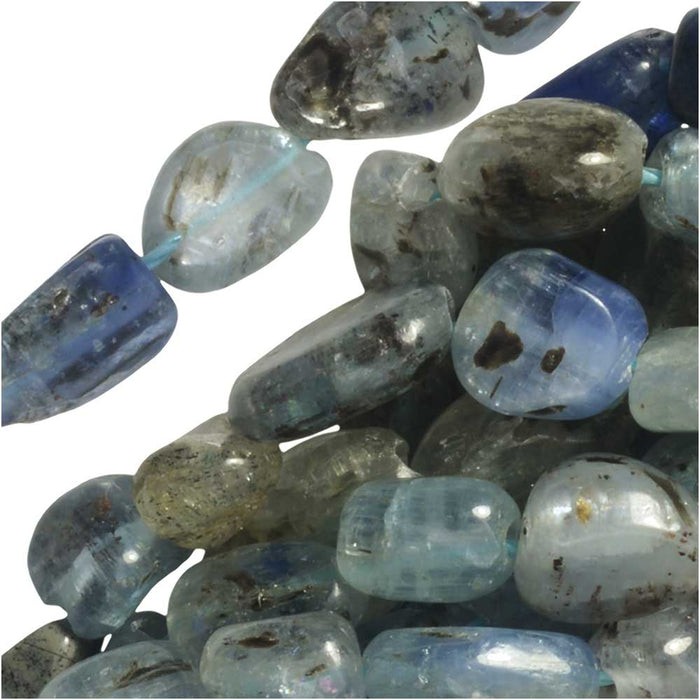 Gemstone Beads, Blue Kyanite, Nuggets 5-9mm, 15.5 Inch Strand