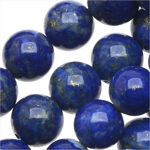 Natural Lapis Gemstone Beads, Round 6mm, 15.5 Inch Strand, Deep Blue