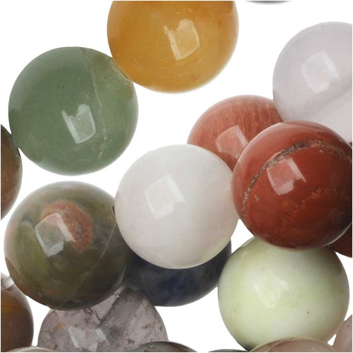 Dakota Stones Gemstone Beads, Mixed Stones, Round 10mm, 15 Inch Strand