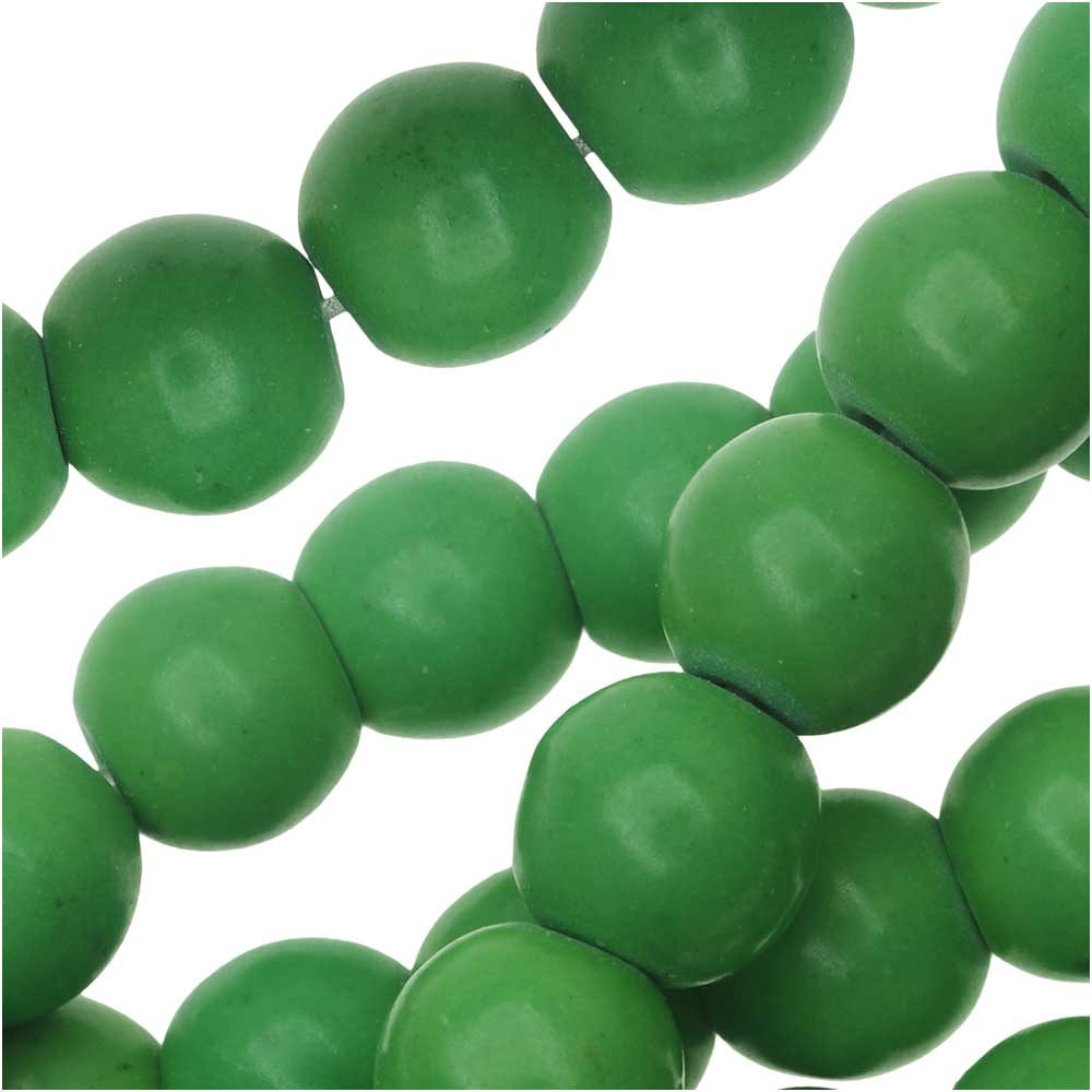 Green Chalk Turquoise Round Beads 8mm Stabilized/15.5 Inch Strand