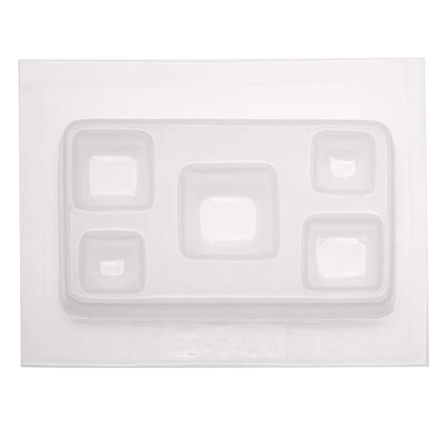 Resin Epoxy Mold For Jewelry Casting - Assorted Squares