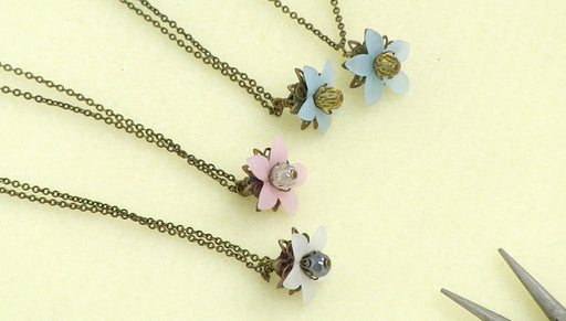 Instructions for Making the Floral Drop Lucite Necklace Kit
