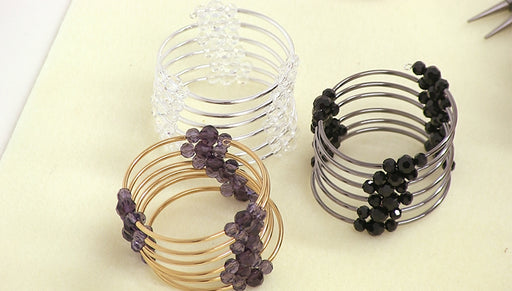Instructions for Making the Memory Wire Noodle Bead Bracelet Kit