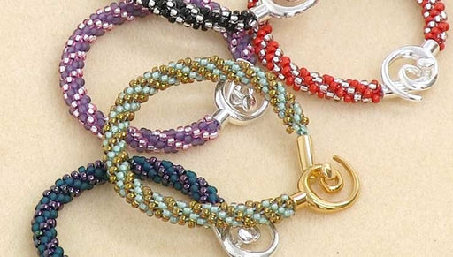Instructions for Making the Beaded Kumihimo Bracelet Kit