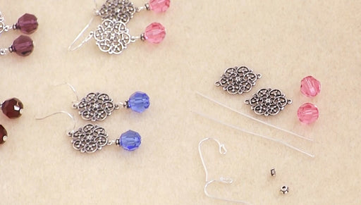 Instructions for Making the Lillian Birthstone Earrings