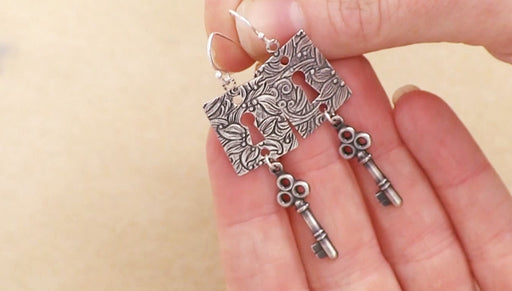 Instructions for Making the Lock and Key Earring Kit