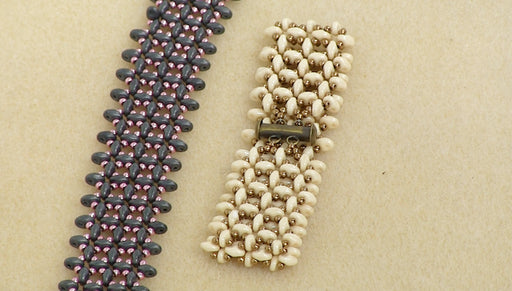 Instructions for the SuperDuo Right Angle Weave Bracelet Kit