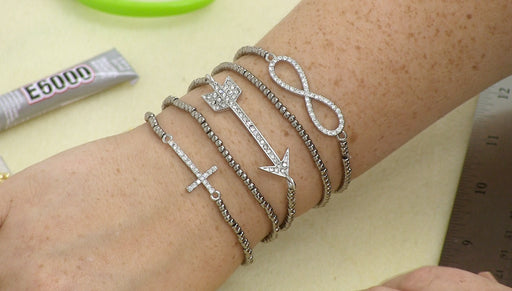 Instructions for Making the Stacked Infinity, Cross, Arrow Bracelet Kit
