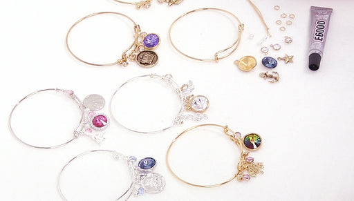 Instructions for Making the Deluxe Charm Bangle Bracelet Kits