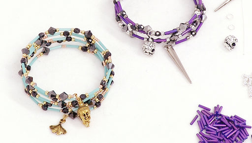 Instructions for Making the Glam Charm Bangle Bracelet Kits