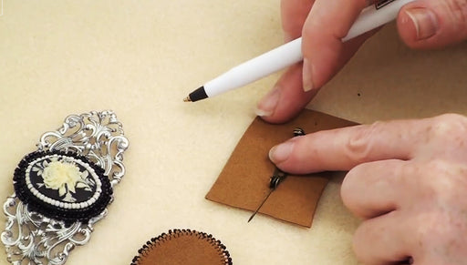 How to Embed a Pin Back into Ultra Suede for Jewelry Designs