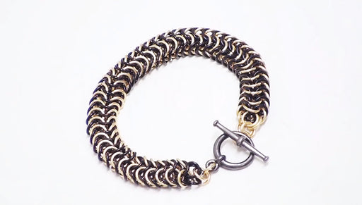 How to Make a Chain Bracelet Using the Roundmaille Weave