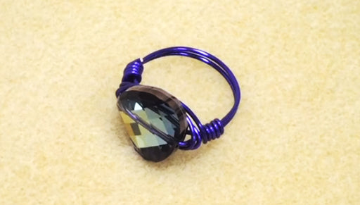How To Make A Wrapped Wire Bead Ring