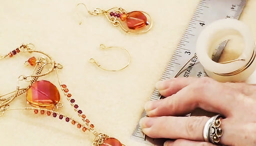 How to Make Wire Jewelry Components for the Ambrosia Earring Set