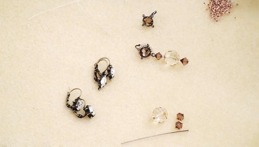 How to Make an Earring with a Beadable Earring Finding with Loops