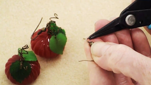 How to Make Lucite Pumpkin Earrings