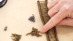 How to Bead Weave a Metal Bead Bracelet using Modified Ladder Stitch
