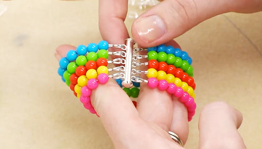 How to Make a Party Bead Multi Strand Bracelet