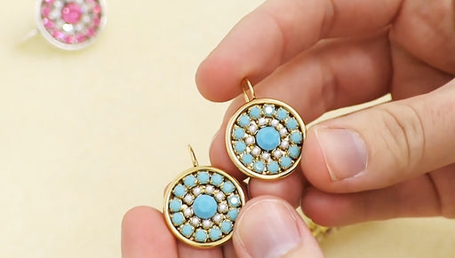 How to Make the Desi Rhinestone Cup Chain Vintage Style Earrings