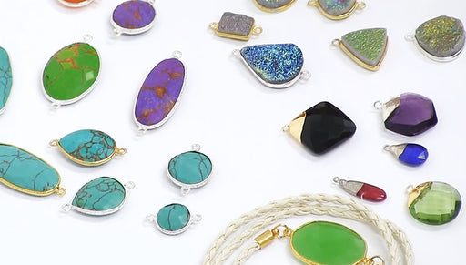 Show & Tell: Gemstone Bezel Pendants and Links