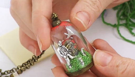 How to Make the Zombie Glass Dome Pendant