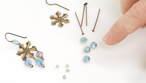 How to Make the Morning Snowfall Earrings