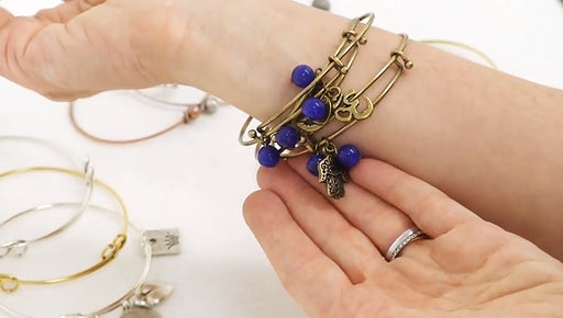 Show & Tell: New Styles of Expandable Charm Bangle Bracelets