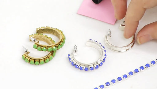 How to Make the Springtime Hoop Earrings