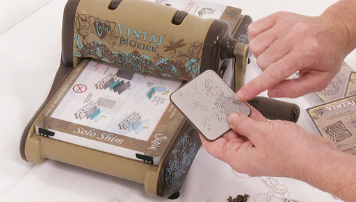 How to Use the Vintaj Big Kick with Etching and Embossing Dies