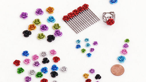 Show and Tell: Metal Flower Beads