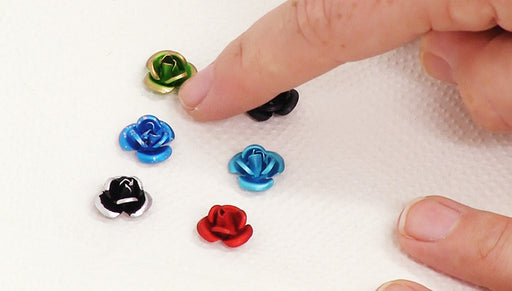 How to Paint Metal Flower Beads