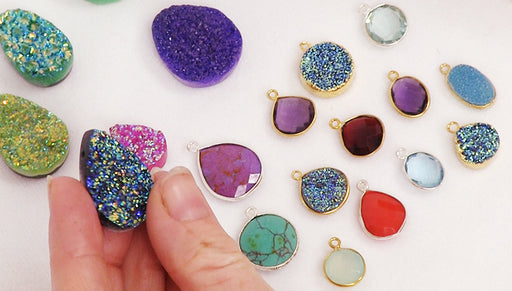 Show & Tell: Druzy and Gemstone Pendants, Links, and Charms