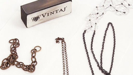 Quick Tip:  Use a Vintaj Relief Block on Vintaj Chain