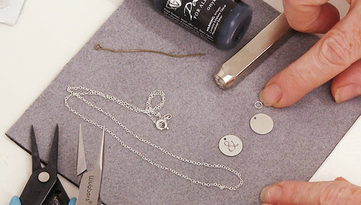 How to Make a Petite Metal Stamped Necklace with ImpressArt Punch Stamps