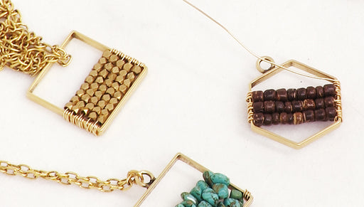 How to Wire Wrap Beads onto a Nunn Design Open Frame Pendant