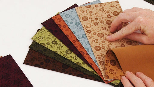 Show & Tell: Lillypilly Designs Patterned Ultrasuede