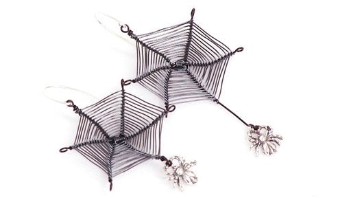 How to Wire Wrap a Spider Web and Make a Pair of Earrings