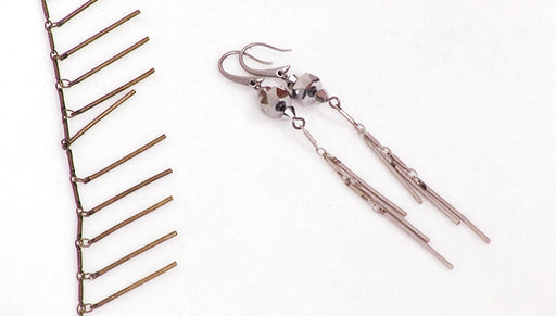 How to Use Bar Dangle Chain to Make the Chrome Comet Earrings
