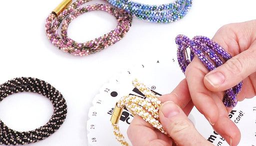 Instructions for Making the Beaded Kumihimo Wrap Bracelet Kit